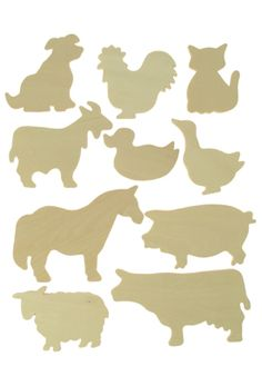Farm Animals 2 Wooden Templates