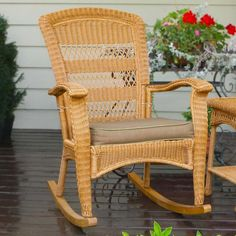 Tortuga Outdoor Plantation Wicker Rocking Chair #RockingChair