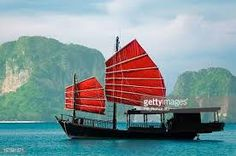 Journey Photograph - Junk Ship With Mountain Island by ronaldo Junk Ship, Image Now, First Night, Ronaldo, Sailing Ships, Asia, Journey, Boat, Island