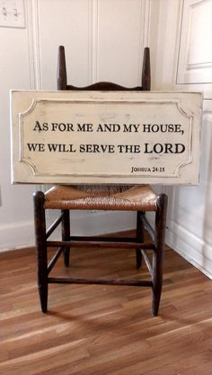 As For Me And My House We Will Serve The LORD by ArtisintheHeart