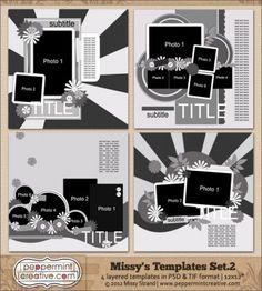 "Missy's Templates Set. 2  12x12"""