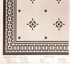 (FOYER) Early mosaic floor tile pattern from American Encaustic tile catalog. Hex Tile, Penny Tile, Bath Tiles, Mosaic Tiles, Craftsman Mosaic Tile, Mosaic Floors, Craftsman Kitchen, Cement Tiles, Floor Patterns
