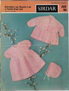 Coat Patterns, Baby Knitting Patterns, Baby Patterns, Vintage Patterns, Dress Patterns, Crochet Patterns, Pattern Dress, Kids Knitting, Knitting Ideas