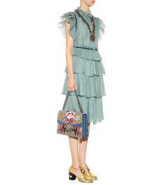 mytheresa.com - Embellished silk dress - Dresses - Clothing - Luxury Fashion for Women / Designer clothing, shoes, bags