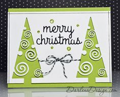 CAS Christmas Card - with video tutorial.