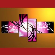 GMD4005  4-PCS Group Oil Painting