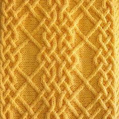 Ravelry: Celtic Motif (knot pattern by Devorgilla's Knitting (sometimes. Cable Knitting Patterns, Knitting Stiches, Knitting Charts, Lace Knitting, Knitting Designs, Knit Patterns, Knitting Projects, Crochet Stitches, Stitch Patterns