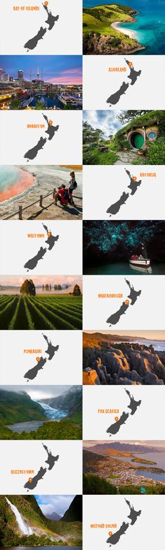 Top 10 Best Places To Visit In New Zealand – www.newzealandbyr… Top 10 Best Places To Visit In New Zealand – www. New Zealand North, Visit New Zealand, New Zealand Travel, Camping New Zealand, Oh The Places You'll Go, Cool Places To Visit, Places To Travel, Kia Ora, Travel Around The World