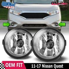 Front Bumper Fog Light Lamp Kit Black Bezel+Bulbs Smoke Lens For 11-17 Sienna