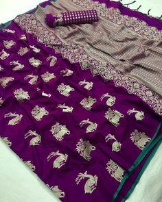 Banarasi softsilk weave sarees with running blouse Saree Blouse, Sari, Banaras Sarees, Indian Fashion, Womens Fashion, Soft Silk Sarees, Bollywood Saree, Fashion Studio, Indian Sarees