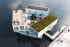 Floating Units For Students In Denmark By Urban Rigger Bedroom