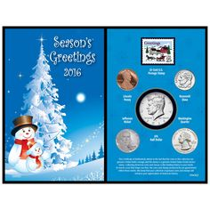 Coin Collection 2016 Snowman Greeting Card