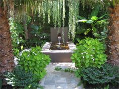 pond plantsgarden images | ... Ideas: Lovely Green Court Yard Design Idea With Cool Water Pond Design