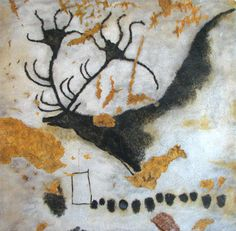 On September the cave paintings in Lascaux, France, were discovered. Lascaux is the setting of a complex of caves near Montignac, France Art Prints, Lascaux Cave Paintings, Cave Drawings, Prehistoric Art, Painting, Art, Ancient Art, Paleolithic Art, Art History