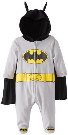 Bentex Group Inc Baby-Boys Newborn Batman Coverall, Gray, 9 Months