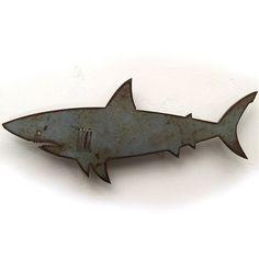 24 inch Shark metal wall art - long - Handmade - Choose your patina color - deal sites Fish Artwork, Patina Metal, Shark Art, Metal Wall Art Decor, Patina Color, Steel Art, Coupon Design, Metal Walls, Canvas Wall Art