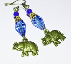 Hey, I found this really awesome Etsy listing at https://www.etsy.com/listing/127789589/elephant-blue-crystal-earrings