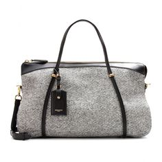 mytheresa.com - Ballet wool-felt and leather tote - Luxury Fashion for Women / Designer clothing, shoes, bags