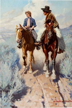 """Prairie Courtship"" by W. Herbert Dunton"