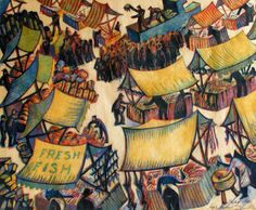"""Market Day"", Sybil Andrews, 1936"