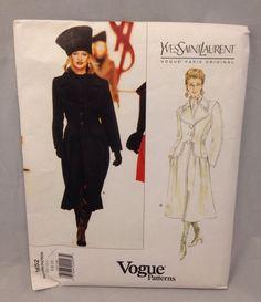 Vogue Sewing Pattern UNCUT 1652 YSL Size 6 8 10 Yves Saint Laurent Coat Jacket  #VoguePatterns #coat