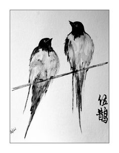 birds of a feather... Chinese/Japanese Ink