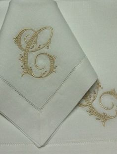 Monogrammed Hemstitch Luxury Table Linens With Your Selection Of Monogram  And Custom Embroidery.