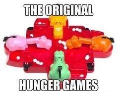 The Original Hunger Games .... LOL  via: http://absolutelymadness.tumblr.com/