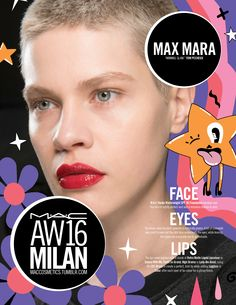 M·A·C Backstage at Max Mara AW16 MFW. Get this red lip with Retro Matte Liquid Lipcolour in Feels So Grand!