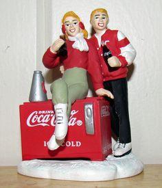 Coca Cola Town Square Christmas Village Accessory  Refreshing Break Students