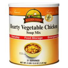 Augason Farms Hearty Vegetable Chicken Soup Mix - just add water for a hearty chicken soup! #foodstorage #emergencypreparedness #longshelflife