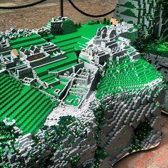 Lego Machu Picchu in London's Covent Garden   Llama-rama