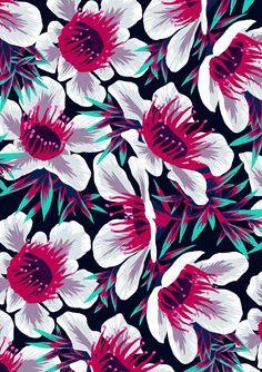 Manuka light floral pattern by Andrea Stark