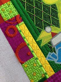 It's not your Grandmother's Needlepoint: What a Surprise!