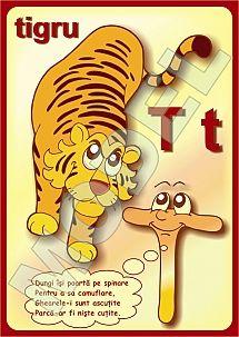 PLANSE CU ALFABETUL PENTRU COPII PRESCOLARI Tigger, Disney Characters, School, Board, 1st Grades, Sign, Planks