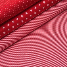 Stoffpaket aus Baumwolle in Rot und Weiss, Große Stoffauswahl / fabric bundle made of cotton in red and white, big material selection made by Ruhrkind via DaWanda.com