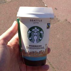 Starbucks Seattle latte. Win. Hot Coffee, Coffee Cups, Starbucks Seattle, Latte, Nyc, My Love, Products, Coffee Mugs, Coffee Cup