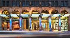 W New York New York This Midtown Manhattan hotel is 1 block from the 51st Street Subway Station. It features a full-service spa, tour desks, gym and rooms with a flat-screen TV.  W New York rooms include a mini-bar and a snack bar.
