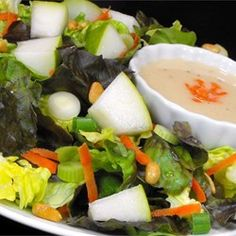 Pear Vinaigrette- Serve with mixed greens, slivered red onion, pear and blue cheese