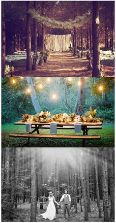 Wedding in the forest...so beautiful and magical and whimsical at the same time! I adore this style.