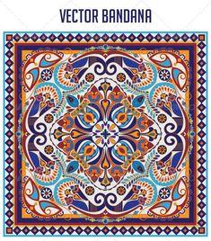 Buy Mayan Bandana by Rosslandia on GraphicRiver. Vector Bandana Deisgn: - vector bandana colored version x 2 (ai + eps) Bandana Colors, Bandana Design, Bandanas, Graphic Prints, Art Prints, Feather Vector, Ecommerce Logo, Scarf Design, Menu Templates