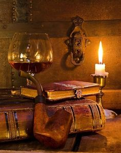 A pipe... The taste of some exquisite liqueur & a book to read... !