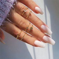 Want some ideas for wedding nail polish designs? This article is a collection of our favorite nail polish designs for your special day. Read for inspiration Cute Acrylic Nail Designs, Simple Acrylic Nails, Summer Acrylic Nails, Nail Polish Designs, Simple Nails, Summer Nails, Nails Design, Aycrlic Nails, Hair And Nails
