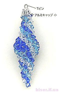 Beaded ornament PATTERN spiral swirl