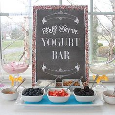 Hostess with the Mostess...Self Serve Yogurt Bar