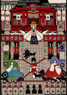 Sanae, Suwako, and Kanako Anime Chibi, Manga Anime, Anime Art, Shrine Maiden, Solo Pics, World Of Fantasy, Funny Moments, Vocaloid, Illusions