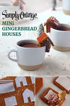 It's the little things that make your holiday party stand out – like these simple DIY Mini Gingerbread Houses. The fresh-squeezed taste of Simply Orange® goes into both the gingerbread dough and the icing to give your houses an extra special holiday flavor.