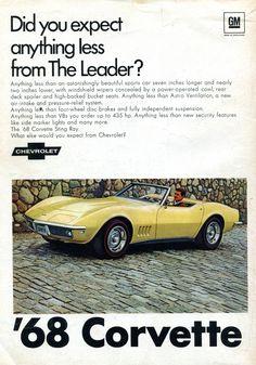 1968 Chevrolet Corvette Advertisement Road & Track December 1967