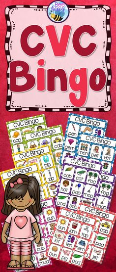 CVC Bingo This resource has six Bingo games to practice and consolidate the…