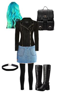 """Punk"" by the-minky on Polyvore featuring Balmain, BDG, Sole Society, Bandolino and Miss Selfridge"